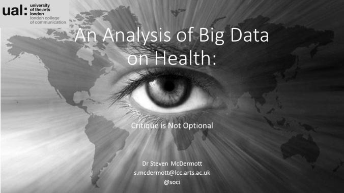An Analysis of Big Data on Health_001
