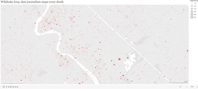 Wikileaks Iraq: data journalism maps every death | 'SOCIAL